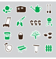 Garden symbols stickers eps10 vector