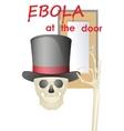 Ebola at the door vector