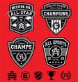 Athletic patch emblems vector