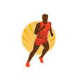 Marathon runner running vector