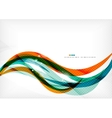 Green and orange lines modern abstract background vector