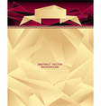 Abstract geometric background with origami ribbon vector