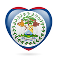 Heart icon of belize vector