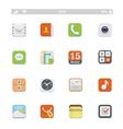 Generic smartphone ui icons vector