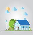 Flat design countryside house vector