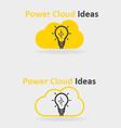Power cloud ideas vector