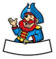 Cartoon of pirate captain vector