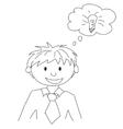 Boy with idea vector