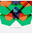 Geometric abstract background layout vector