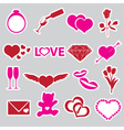 Valentines day and love stickers eps10 vector