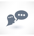 Chat dialogue and communication icon logo design vector