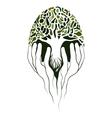 Tree in hands vector