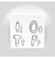 Hand drawn alphabet font vector
