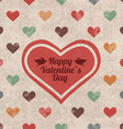 Retro valentines day greeting card vector