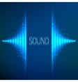 Blue neon stereo equalizer vector