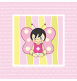 Baby butterfly costume vector