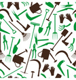 Gardening tools color pattern eps10 vector