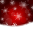 Christmas background - red with white snowflakes vector
