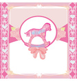 Rocking horses - baby girl baby shower invitation vector