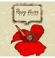 Background with hand drawn poppy flower vector
