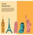 Bright background with world wide famous landmarks vector