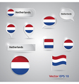 Netherlands icon set of flags vector