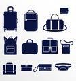 Different types of men bags vector