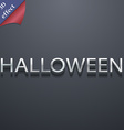 Halloween icon symbol 3d style trendy modern vector