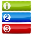 Numbered color step list banner vector