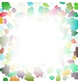 Autumn multicolor leaves frame template vector