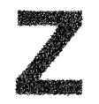 Alphabet z vector