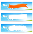 Airplane and text flag vector