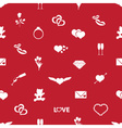 Valentines day and love red pattern eps10 vector