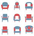 Sofas icons set duotone vector