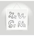 Hand drawn alphabet font vector