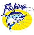 Fishing tuna vector