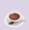 Smoking hot coffee vector