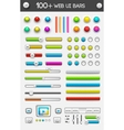 Big collection of web ui elements vector