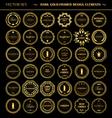 Set of dark gold-framed design elements vector