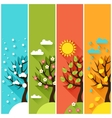 Vertical banners with winter spring summer autumn vector