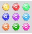 Cog settings sign icon cogwheel gear mechanism vector