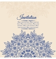 Elegant vintage background with lace ornament vector