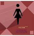 Woman restroom flat modern web design on a flat vector