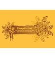 Grunge floral banner vector