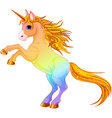 Cartoon rainbow colored unicorn vector