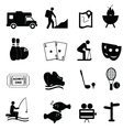 Entertainment and leisure icons vector