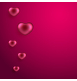Valentines day background with hearts vector