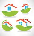 Eco homes vector
