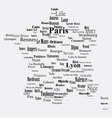 Text graphic france map vector