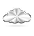 Silver cloud icon vector